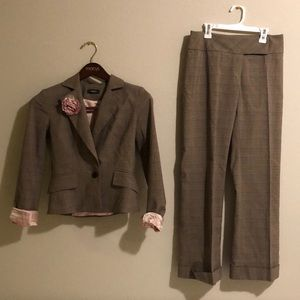 Other - Sinéquanone Brown Plaid overcheck pant suit